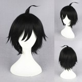 30cm Short Black Haikyuu!! Yamaguchi Tadashi Wig Synthetic Anime Cosplay Hair Wig CS-186D