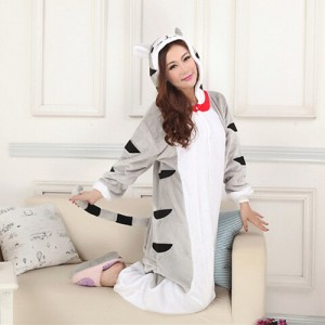 Adult Cartoon Flannel Unisex Cheese Cat Animal Onesies Anime Kigurumi  Costume Pajamas Sets KT046 c0a5a759679bc