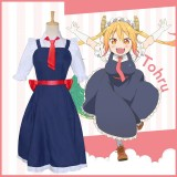 New Anime Kobayashi Maid Dragon Cosplay Tohru Costume Halloween Party Anime Cosplay Costumes COS-179