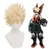 35cm Short Light Blonde My Hero Academia Bakugou Katsuki Wig Synthetic Anime Cosplay Wigs CS-384D