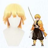 30cm Short Orange Mixed Demon Slayer Agatsuma Zenitsu Wig Synthetic Anime Cosplay Wigs CS-471B