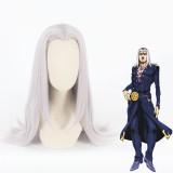 60cm Long Gray Purple JoJo's Bizarre Adventure Anime Leone Abbacchio Wig Synthetic Cosplay Wigs CS-409A