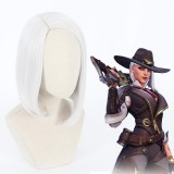35cm Short Silver Overwatch Wig Ashe Synthetic Anime Hair Cosplay Wigs CS-411A