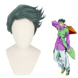 30cm Short Green JoJo's Bizarre Adventure Anime Rohan Kishibe Wig Synthetic Cosplay Wigs CS-417A
