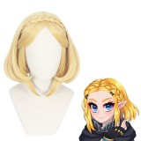 35cm Short Blonde The Legend of Zelda Anime Princess Zelda Wig Synthetic Cosplay Wigs CS-416A