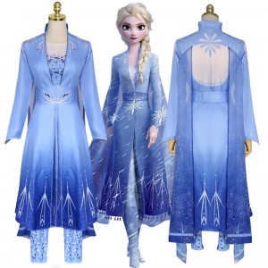 2019 New Movie Frozen II Costumes Elsa Princess Dress Lolita Halloween Party Cosplay Costume COS-337