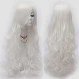 80cm Long Wave White Hair Wig Synthetic Anime Lolita Cosplay Wigs CS-034F
