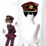 30cm Short Straight Black Toilet Bound Hanako kun Hanako-Kun Wig Synthetic Anime Cosplay Wigs CS-425A