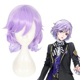 40cm Medium Long Curly Light Purple Mixed Disney Twisted Wonderland Felmier Wig Synthetic Anime Cosplat Wigs CS-443A