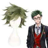 30cm Short Green Disney Cosplay Twisted Wonderland Trey Wig Synthetic Anime Cosplay Wigs CS-442A