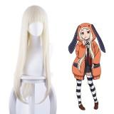 80cm Long Straight Beige Kakegurui Anime Wig Yomoduki Runa Wig Cosplay Party Hair CS-076L
